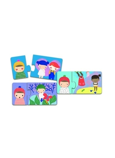 Djeco Djeco İkili Puzzle/Emotions Pembe